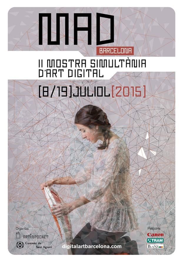 Cartel de la II Muestra Simultánea de Arte Digital.