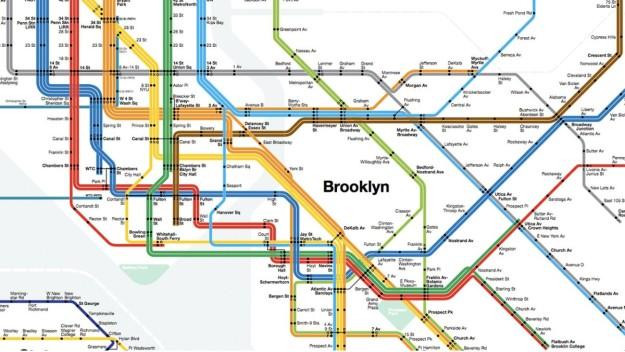 Cartel del metro de Nueva York, de Massimo Vignelli.