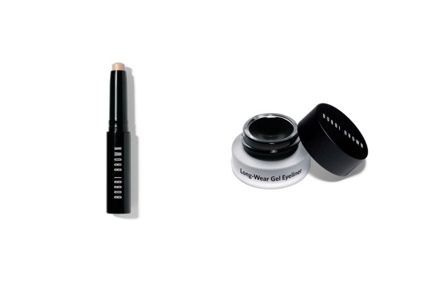 Cream Shadow Stick color Vanilla y Long-Wear Gel Eyeliner, de Bobbi Brown.