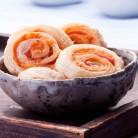 Roll de queso y pavo + smoothie de fresas, ¿merendamos?