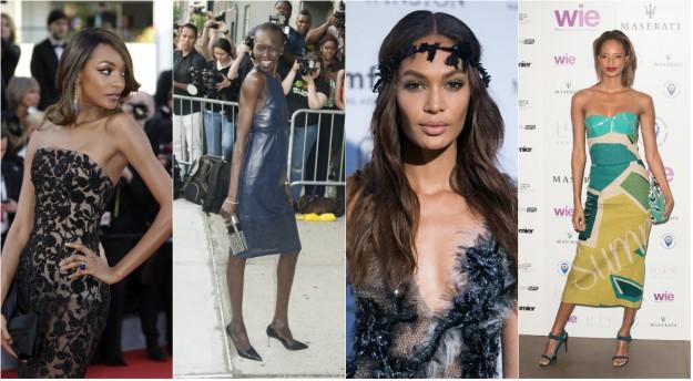 Jourdan Dunn, Alek Wek, Joan Smalls y Malaika Firth, cuatro modelos negras de éxito.