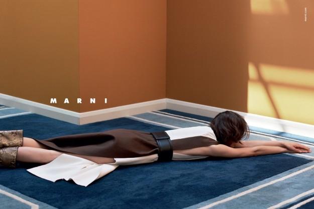 En la campaña de Marni para el próximo otoño no importa quién sea la modelo.