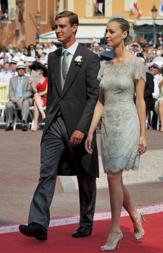 Beatrice Borromeo y Pierre Casiraghi durante la boda religiosa de Alberto de Mónaco y Charlene.