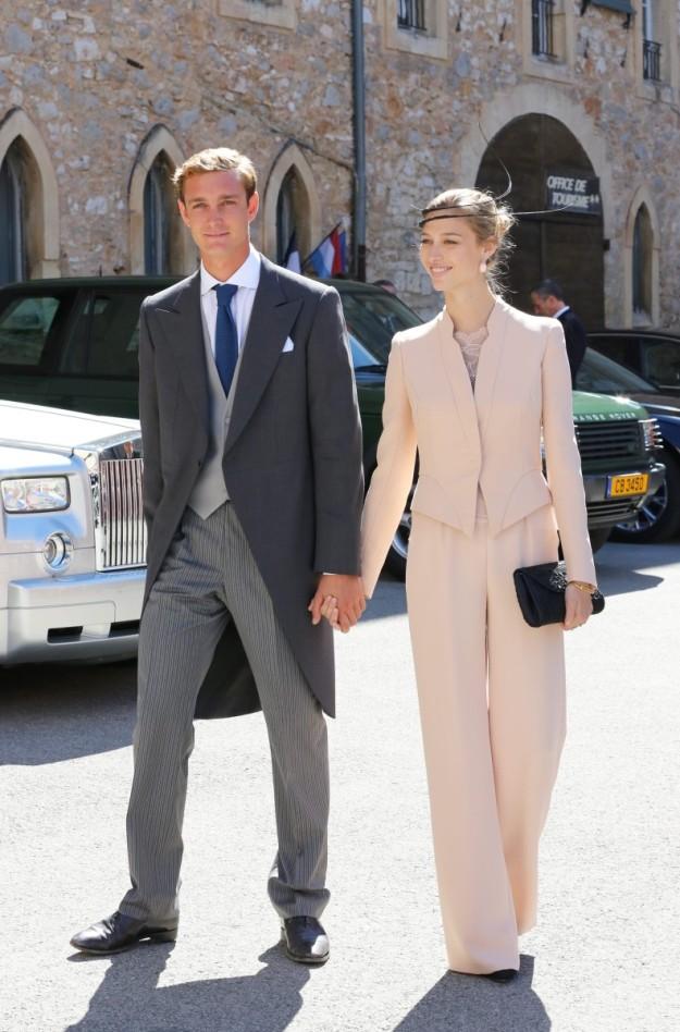 Los novios en la boda de Félix de Luxemburgo y Claire Lademacher