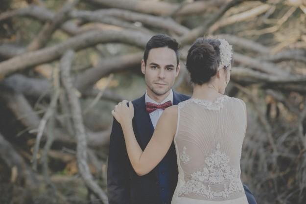 La novia llevó vestido de Otaduy el novio traje de Paoloni.