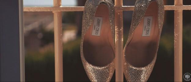Los zapatos de Carol eran de la firma Jimmy Choo.