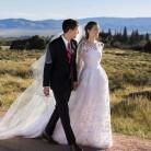 Allison Williams se casa vestida de Oscar de la Renta