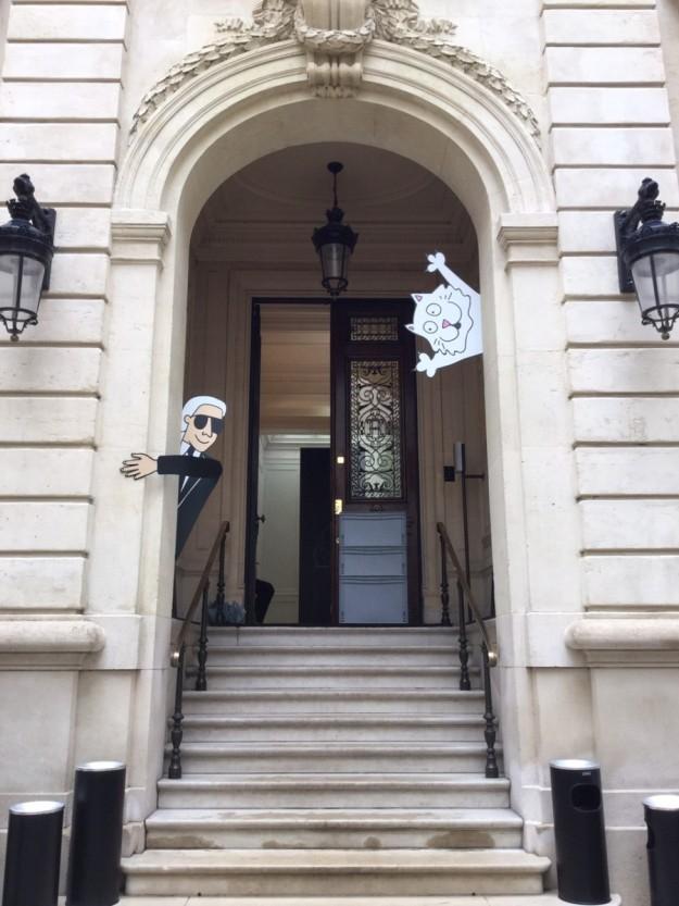 La presentación de Karl Lagerfeld Kids se celebró en la sede del diseñador en París.