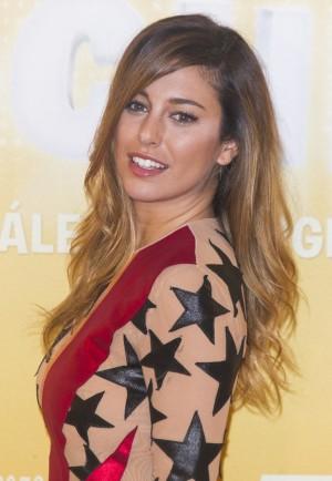 Blanca Suárez en la presentación de su película Mi gran noche con vestido de María Escoté.