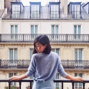 Nicole Warne en el hotel The Westin Paris.