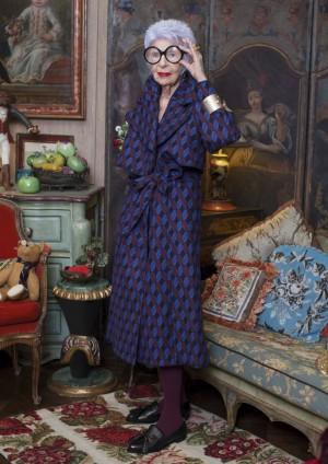Iris Apfel, 94 años. Neoyorquina de nacimiento y fashionista de corazón.