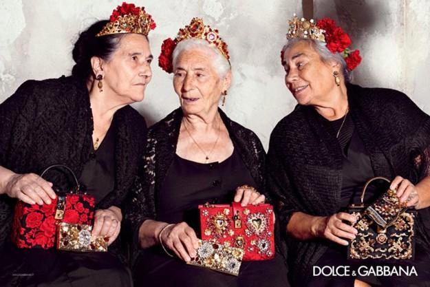Octogenarias modelos de Dolce&Gabbana.