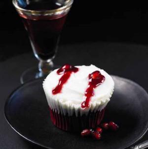 Muffins beso de Drácula.