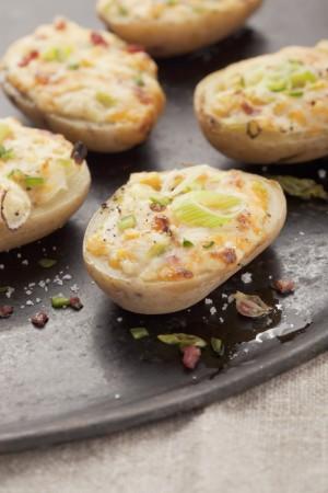 Las patatitas rellenas de queso de cabra de la chef Samantha Vallejo-Nájera.