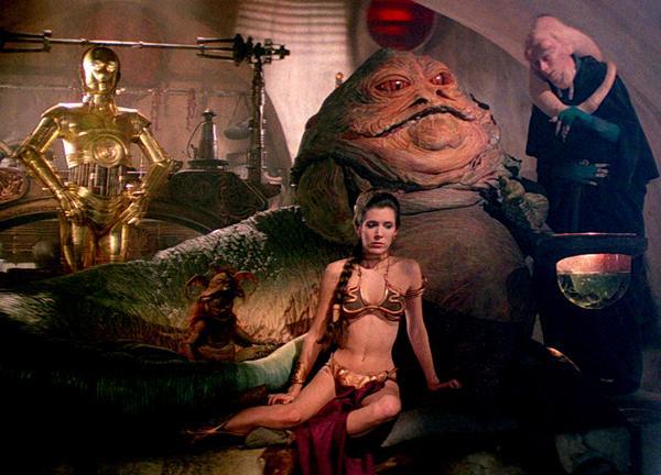 La princesa Leia con Jabba