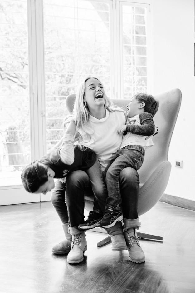 Lilian Tintori junto a sus hijos Manuela y Leopoldo.