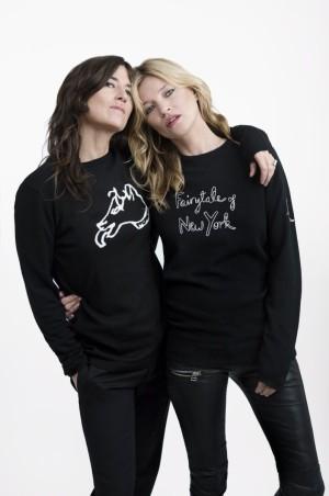 Bella Freud con su musa y amiga Kate Moss.