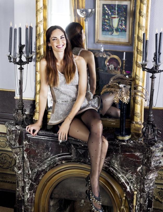 Eugenia Silva con look navideño de Louis Vuitton