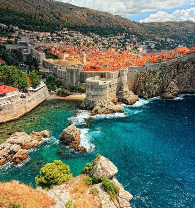 Los muros de la ciudad de Dubrovnik.