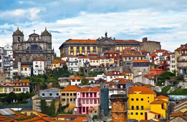 Edificios coloridos de Oporto.