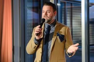 Marc Tomlinson durante la presentación de la nueva colección de C&A en Berlín.