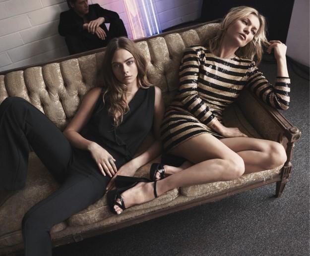Cara Delevingne y Kate Moss protagonizan la campaña de Mango para estas fiestas.