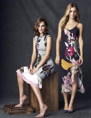 Las actrices Silvia Alonso y Alejandra Onieva vestidas de Hiroko.