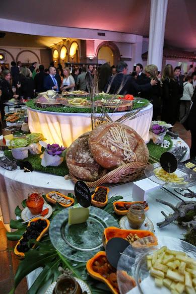 La presentación del catering se convirtió en un elemento más de la decoración.