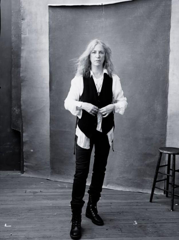 La cantante y estrella del rock Patti Smith.