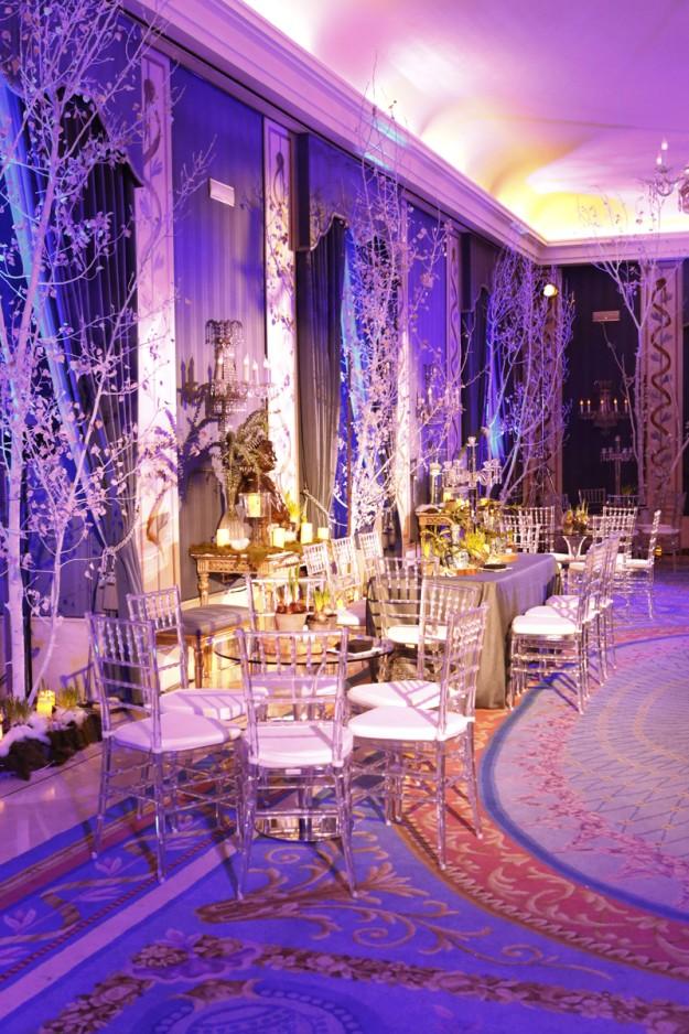 Salón de invierno decorado por Aquilea.