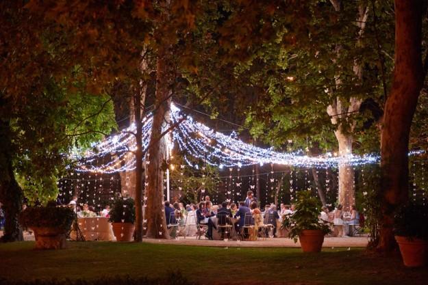 celebración de boda al aire libre