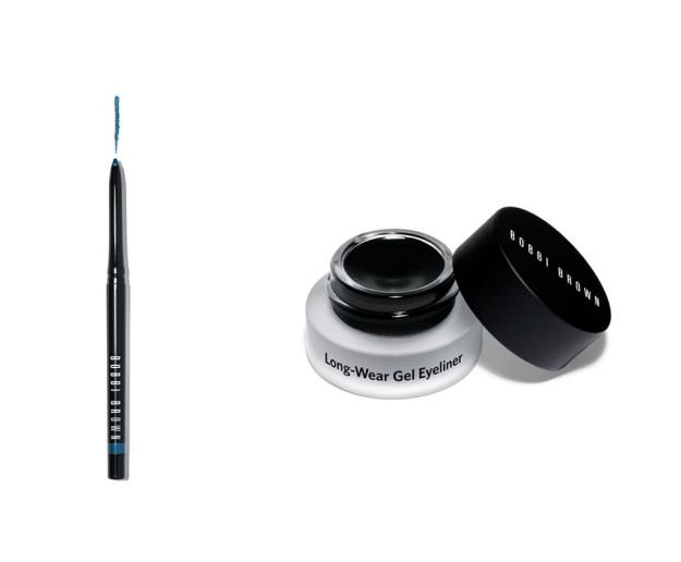 Perfectly Defined Gel Eyeliner y Long Wear Gel Eyeliner, de Bobbi Brown.