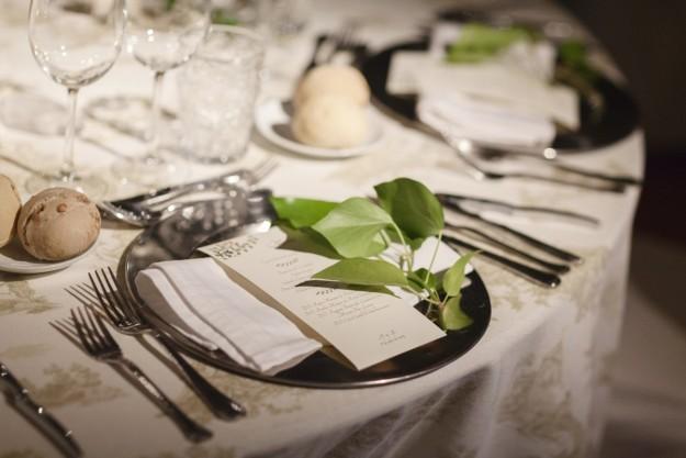 decoración de mesas para la cena