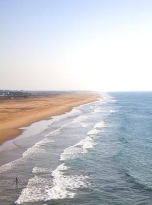 La kilométrica playa de cabo Espartel.