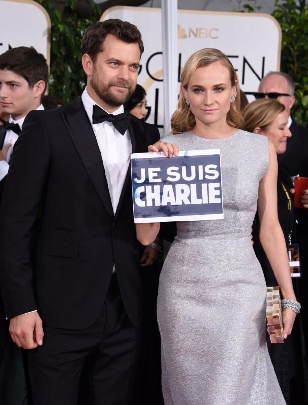 Diane Kruger se solidarizó con los atentados de Charlie Hebdo en la edición pasada.