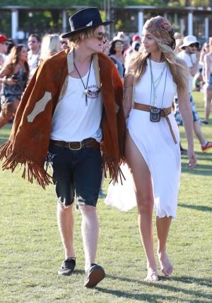 Gigi Hadid y Cody Simpson en la pasada edición de Coachella.