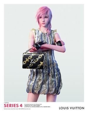Una de las modelos de la campaña de Louis Vuitton es el personaje de un videojuego.