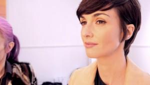 Paz Vega en plena sesión de maquillaje como embajadora de Sensilis.