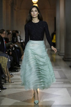 Carolina Herrera se inspiró en un icono neoyorkino, Jacqueline Kennedy.