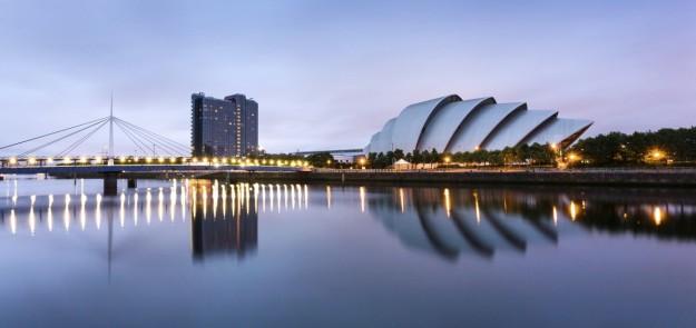 Vista del Auditorio Clyde de Glasgow.