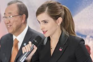 Emma Watson durante un evento de la campaña HeForShe.