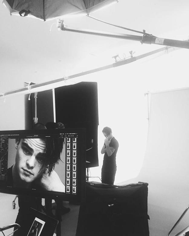 Durante la sesión de fotos para Ralph Lauren en Nueva York.