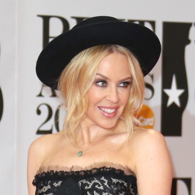 Kylie Minogue durante los Brit Awards.