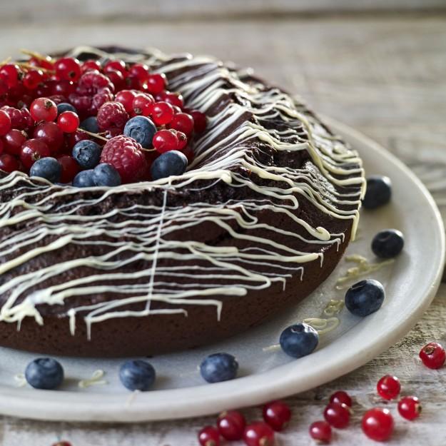 Pastel de chocolate con calabacín.