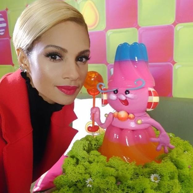Alesha Dixon durante la presentación del nuevo Candy Crush Jelly.
