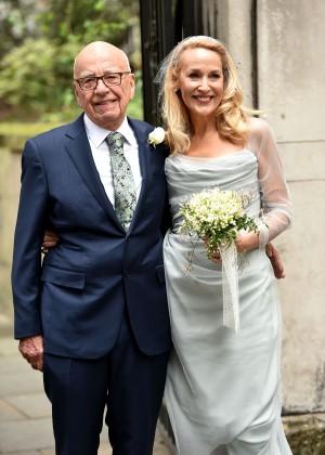Rupert Murdoch y Jerry Hall celebraron su boda en Londrés junto a un centenar invitados.