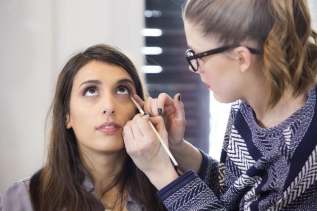 Making of de la primera prueba de maquillaje de novia.
