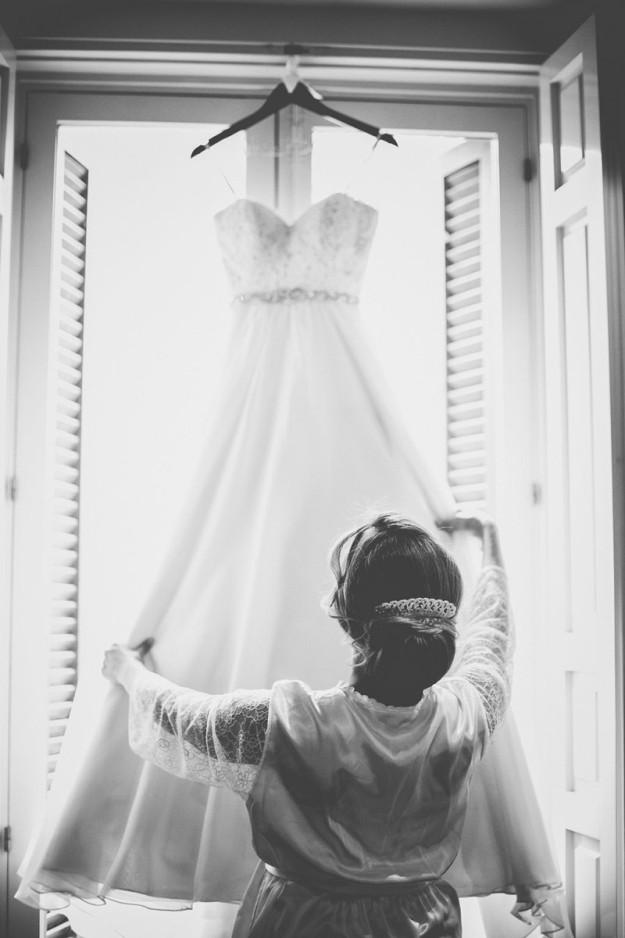 novia con vestido de novia