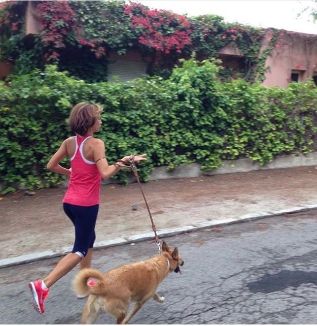María Giner corriendo.