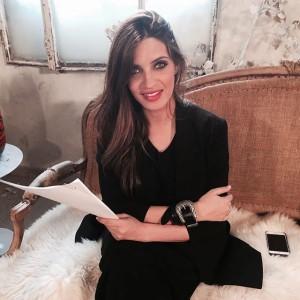 La periodista ha visitado los estudios de Mediaset.